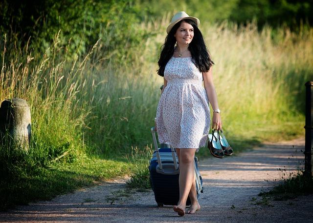 v šatech na výlet